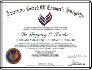 Dr. Roche Cosmetic Surgery Certification